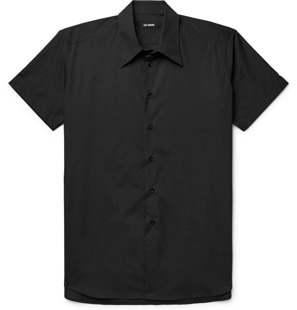 Raf Simons - Embroidered Cotton Shirt - Black