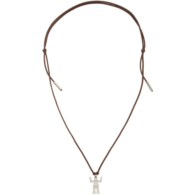Photo: Marni Silver and Brown Robot Pendant Necklace