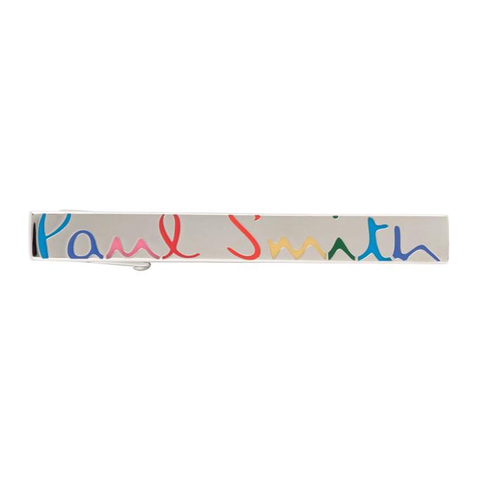 Photo: Paul Smith Silver and Multicolor Rainbow Tie Pin