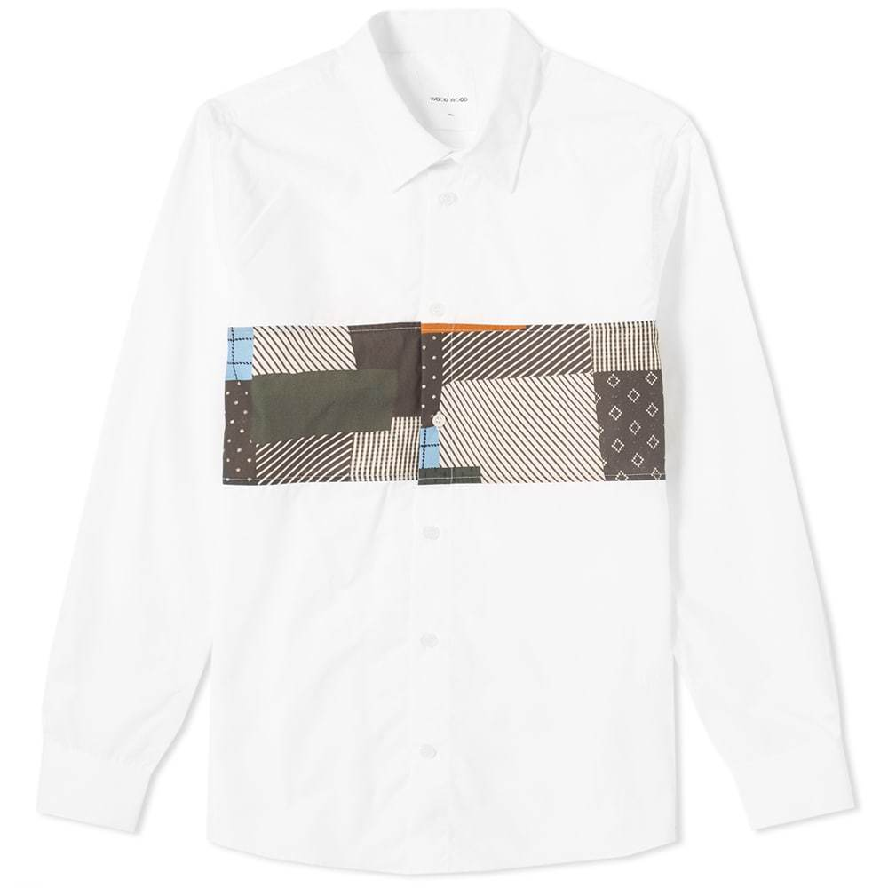 Wood Wood Dessy Patchwork Shirt White