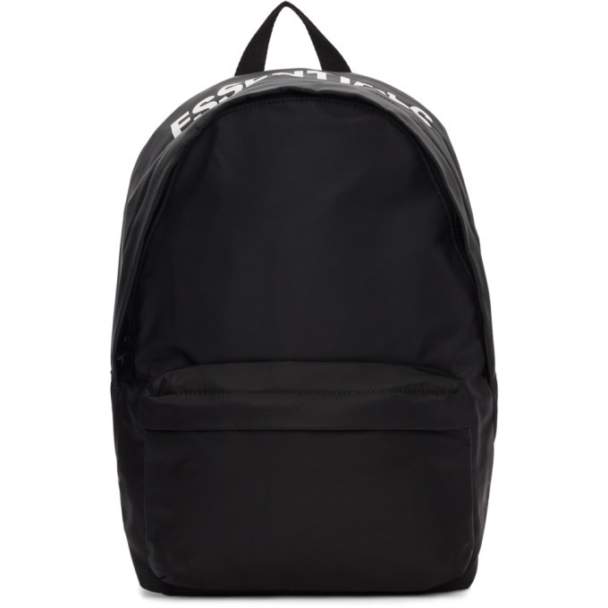Photo: Essentials Black Logo Backpack