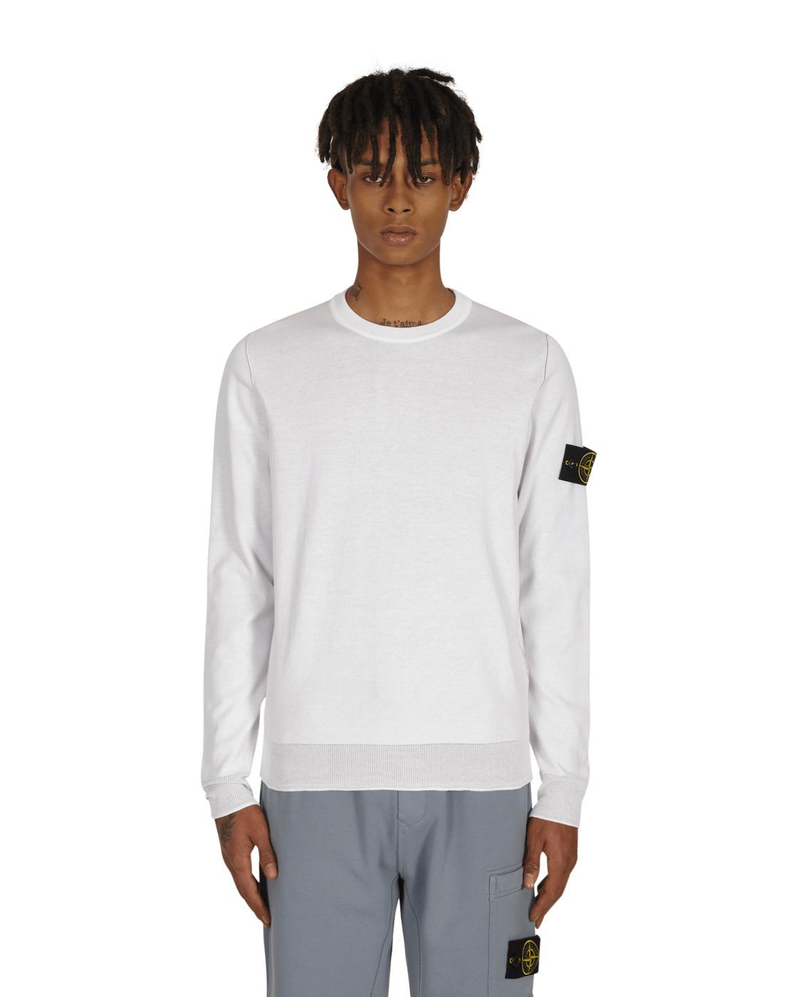 Stone Island Reversible Knit Sweater White
