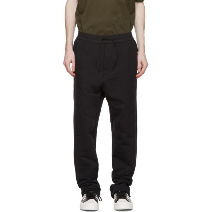 Photo: Y-3 Black Terry Wide Leg Lounge Pants