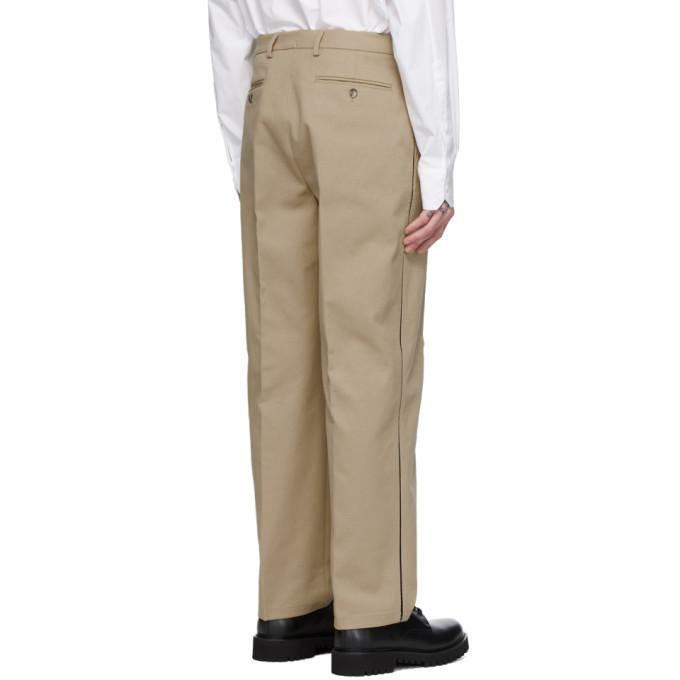 Valentino Beige Knit Seam Trousers