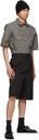 Margaret Howell Grey Odd Pocket Short Sleeve Shirt