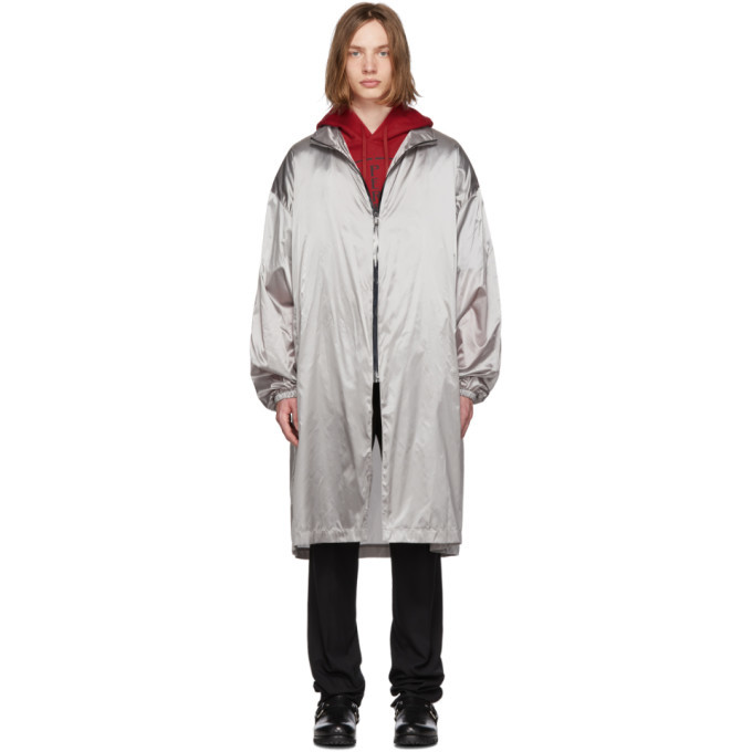 Photo: Raf Simons Grey Metallic Raincoat