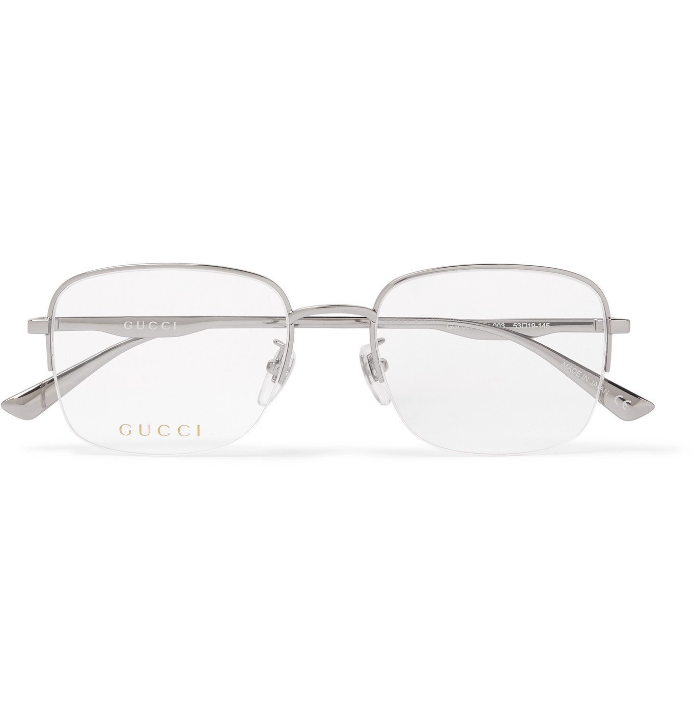 Photo: Gucci - Square-Frame Silver-Tone Optical Glasses - Silver
