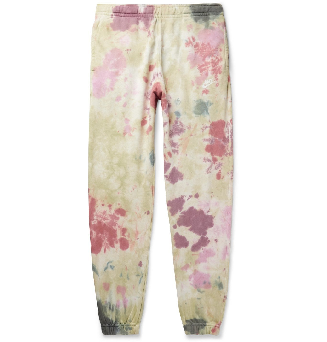 Photo: Nike - Sportswear Tapered Tie-Dyed Loopback Cotton-Blend Jersey Sweatpants - Green