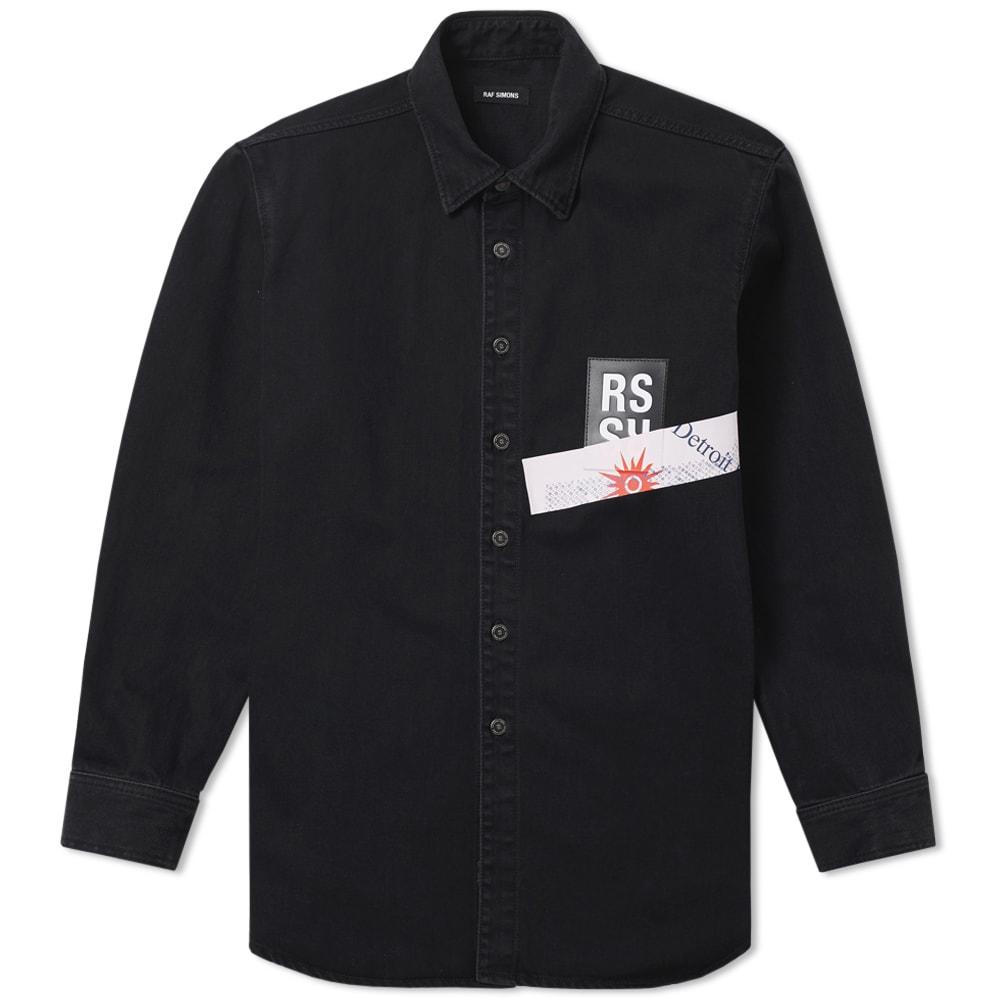 Raf Simons Patch Logo Denim Shirt Black