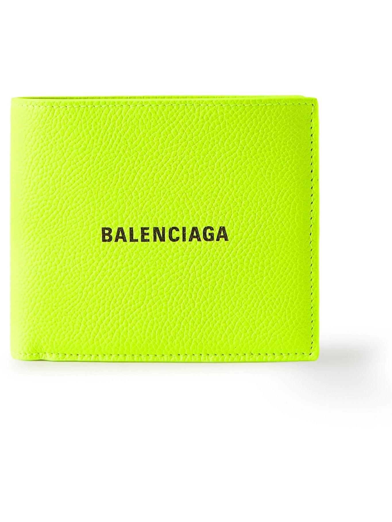 BALENCIAGA - Logo-Print Full-Grain Leather Billfold Wallet