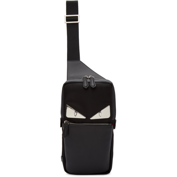 3468a641cbf1 Fendi Black Bag Bugs Single-Strap Backpack Fendi