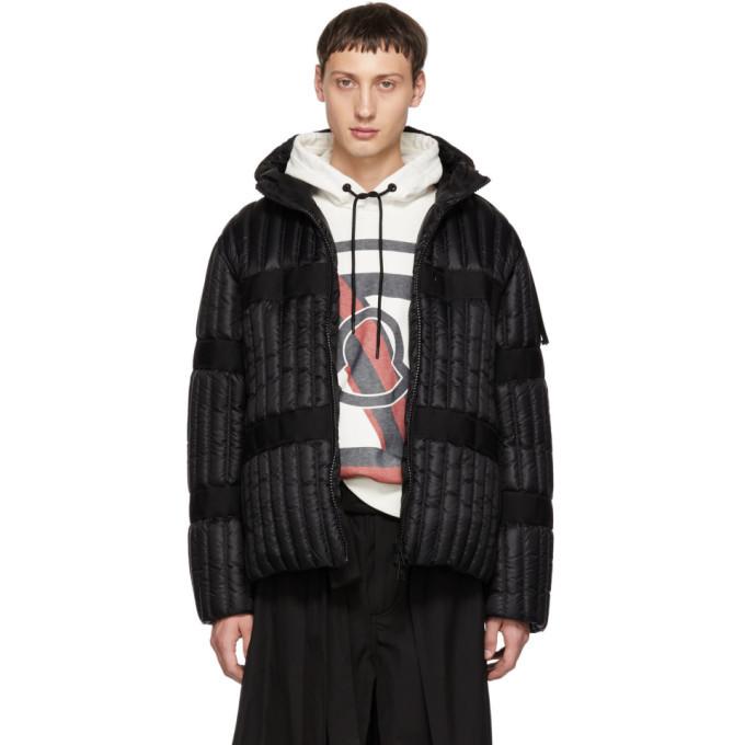 Photo: Moncler Genius 5 Moncler Craig Green Black Down Halibut Hooded Jacket