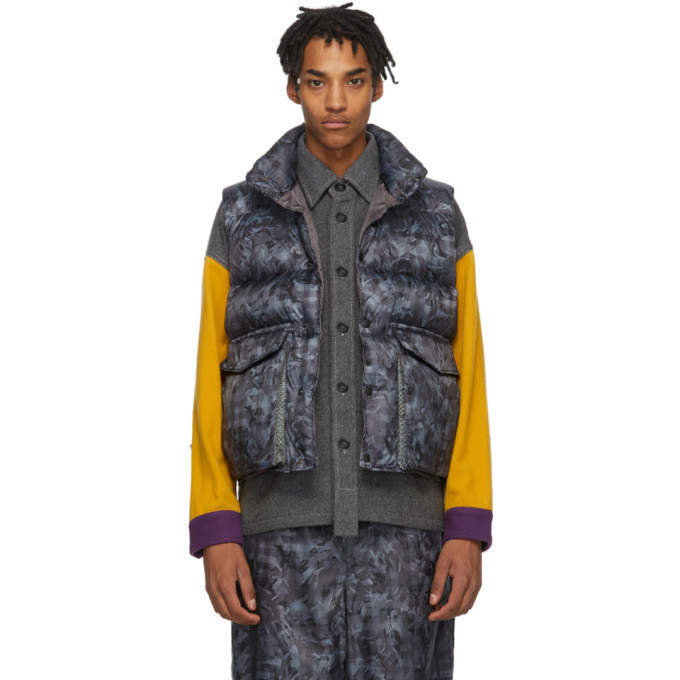 Photo: Woolrich Grey North Hollywood Edition Down Camouflage Vest