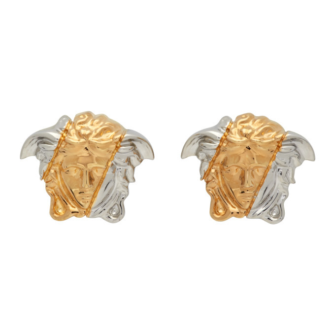 Photo: Versace Gold and Silver Palazzo Dia Earrings