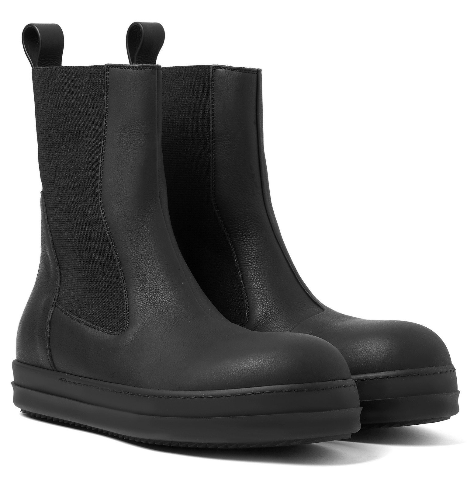 Photo: Rick Owens - Bozo Leather Chelsea Boots - Black