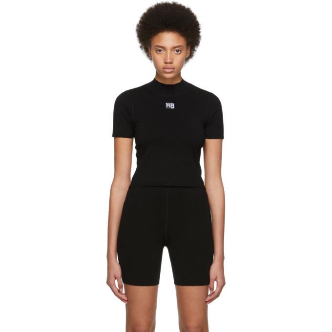 alexanderwang.t Black Foundation Bodycon Mock Neck T-Shirt