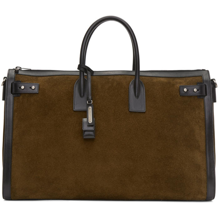 Photo: Saint Laurent Brown Sac de Jour Duffle Bag