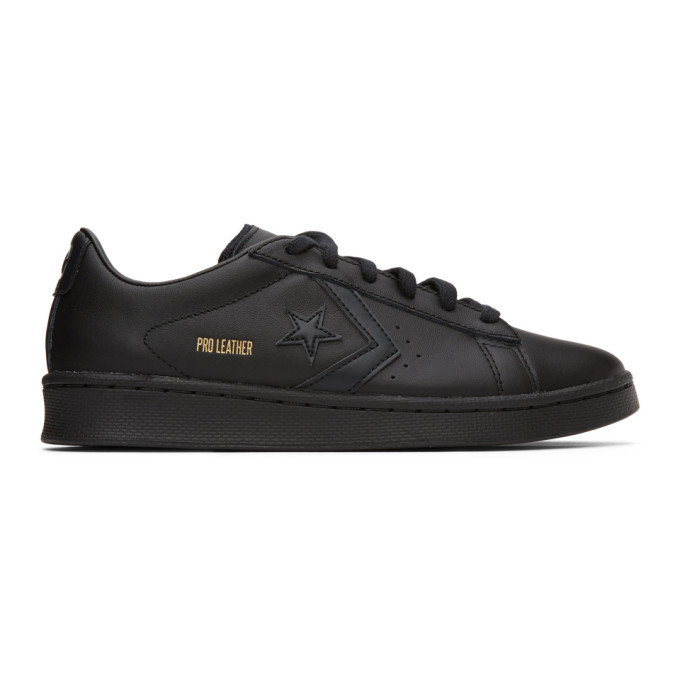 Photo: Converse Black Pro Leather OX Sneakers