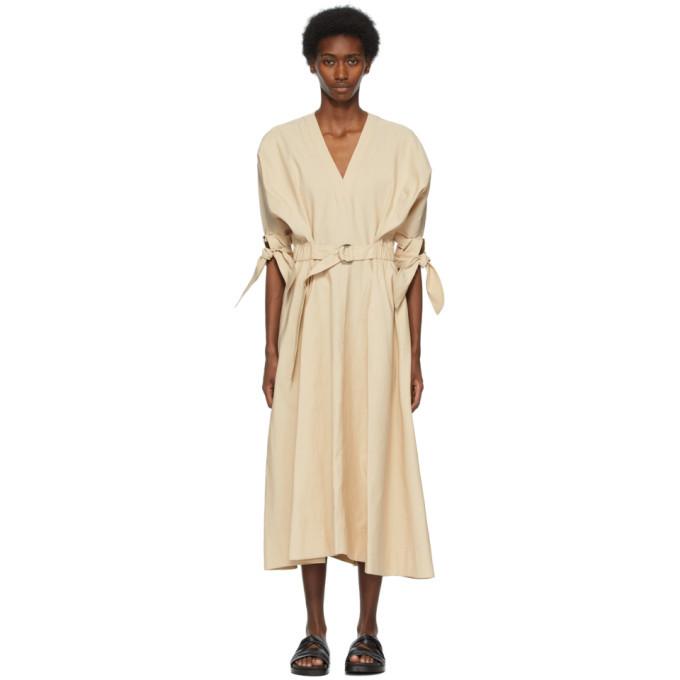 3.1 Phillip Lim Beige Belted Mid-Length Dress