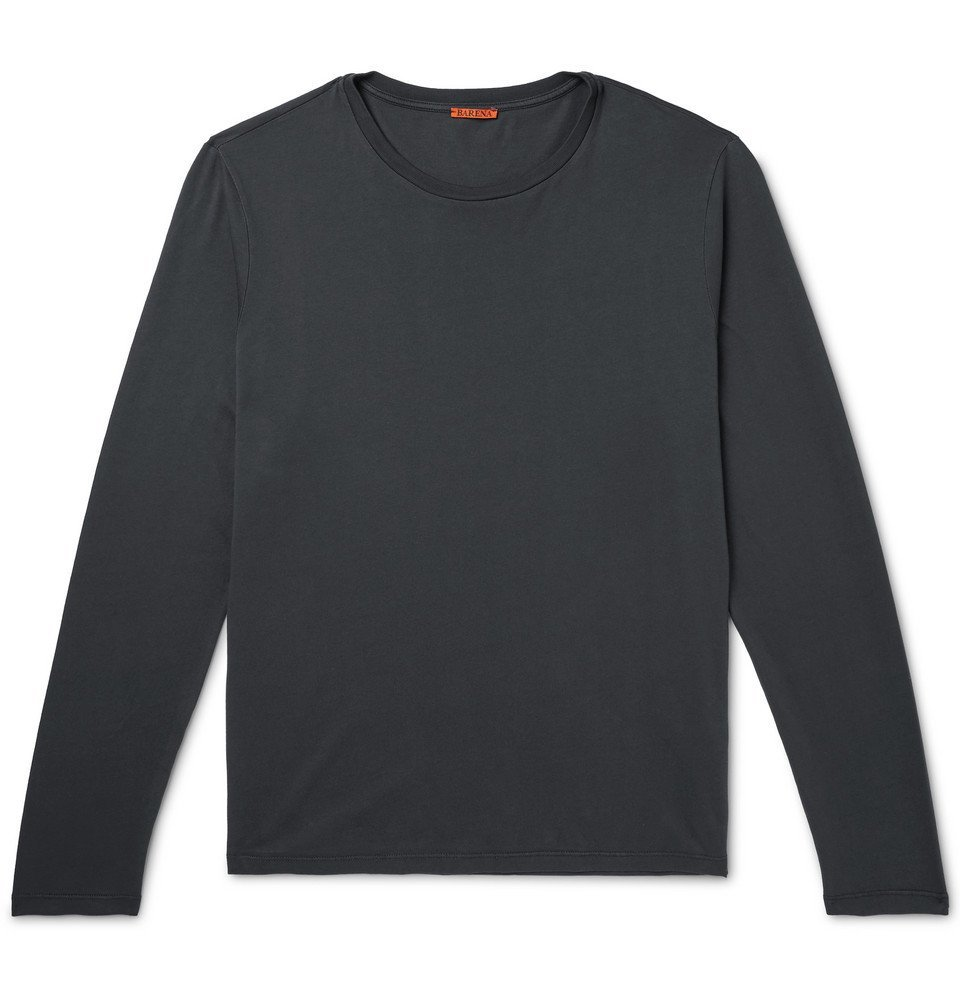 Photo: Barena - Cotton-Jersey T-Shirt - Black