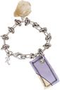 Raf Simons Silver & Yellow Patch Charm Bracelet