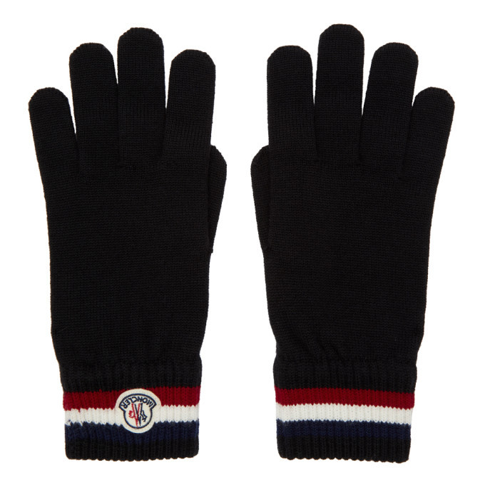 Photo: Moncler Black Wool Corporate Gloves