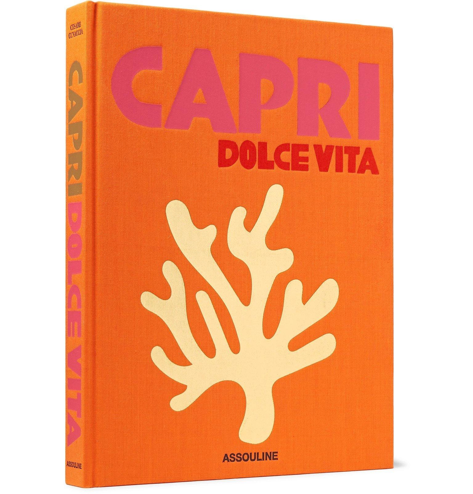 Photo: Assouline - Capri Dolce Vita Hardcover Book - Orange