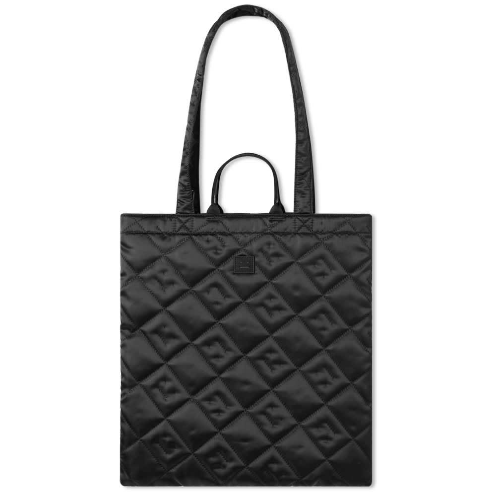 Photo: Acne Studios Awa Quilted Satin Face Tote Bag