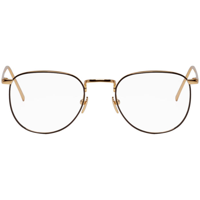 Photo: Ann Demeulemeester Gold Linda Farrow Edition 494 C6 Glasses