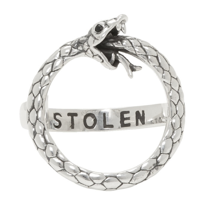 Photo: Stolen Girlfriends Club Silver Infinity Snake Ring