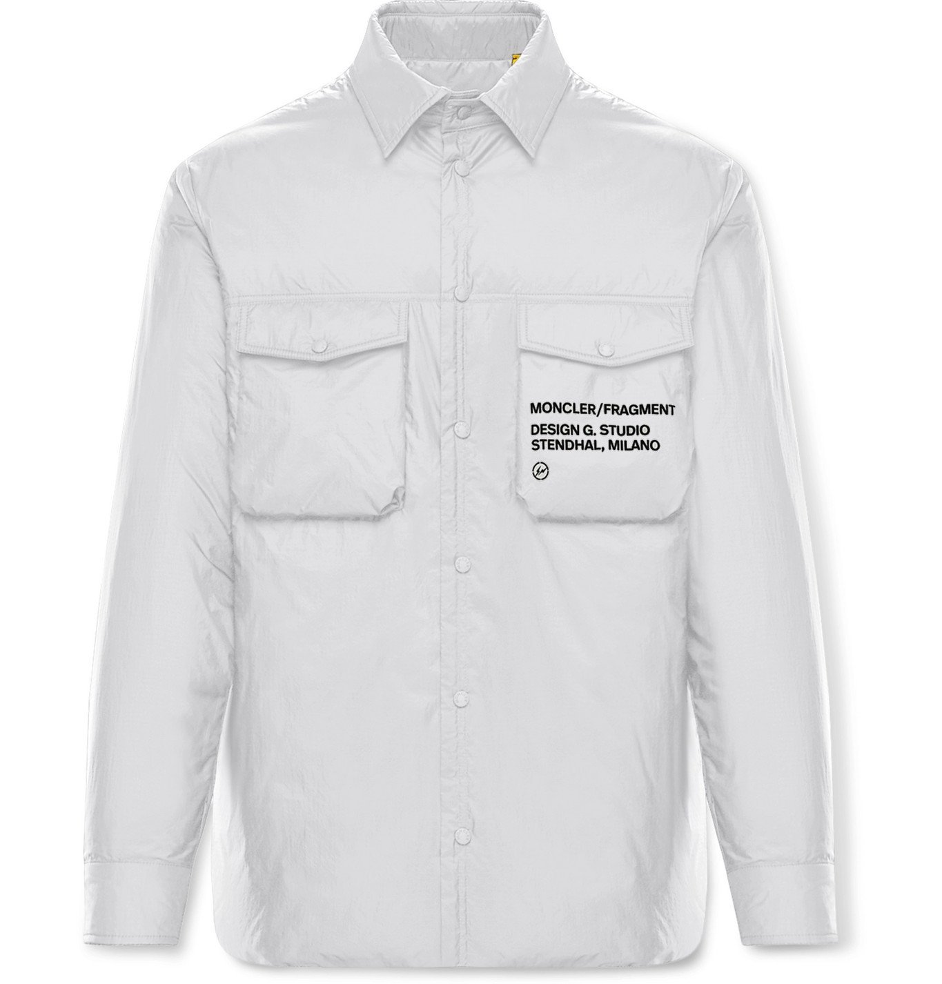 Photo: Moncler Genius - 7 Moncler Fragment Mazen Logo-Print Nylon Down Jacket - White