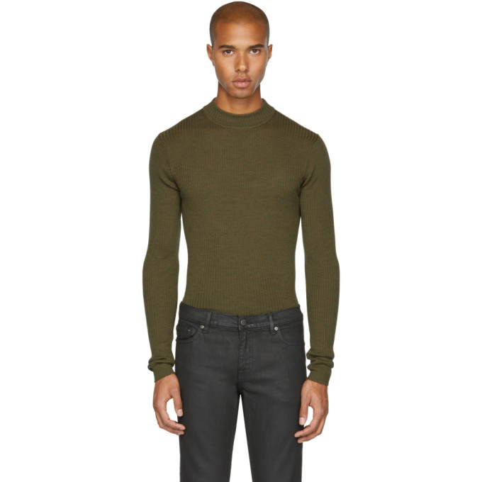 Photo: BLK DNM Green Skinny Rib 84 Sweater