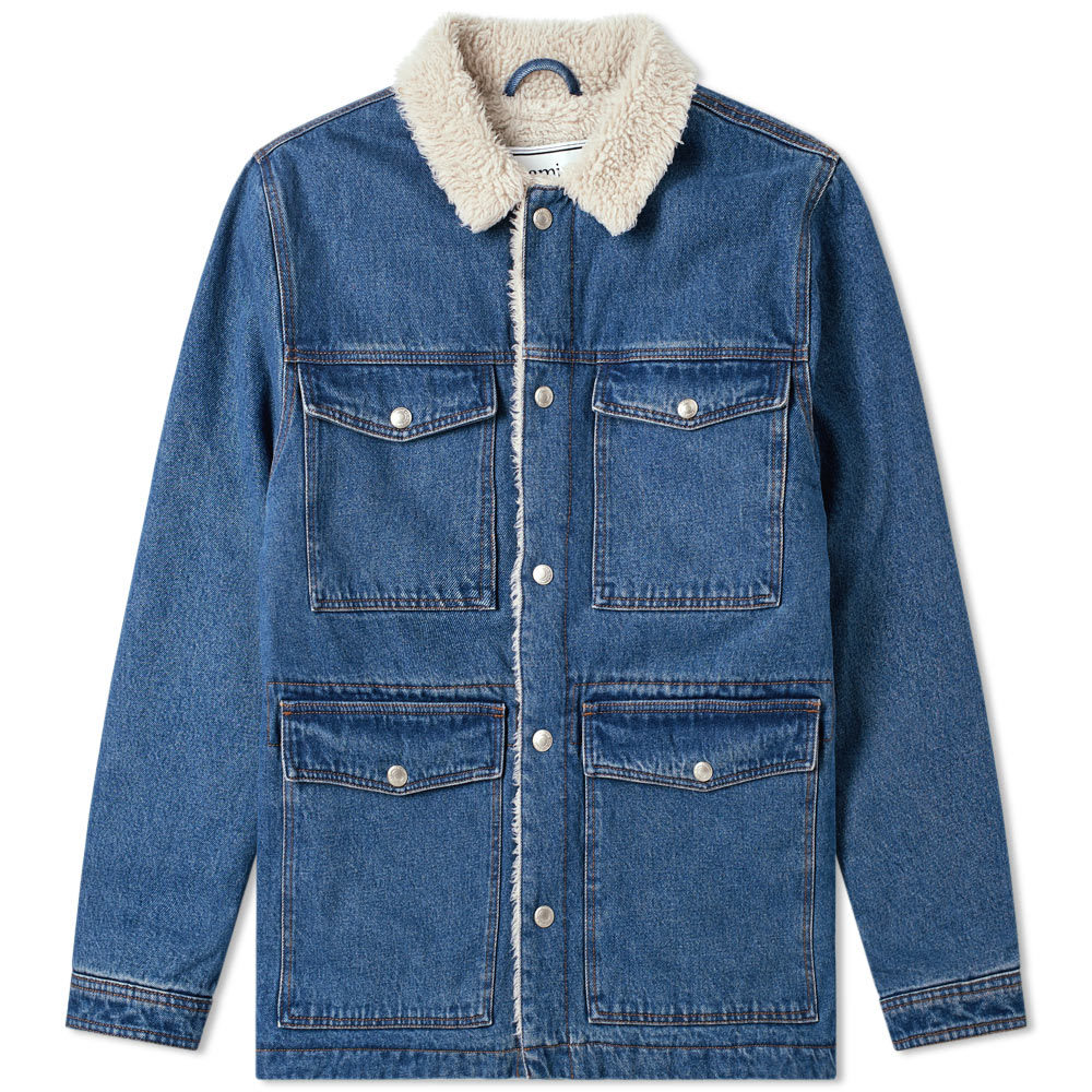 Photo: AMI Sherpa Lined Denim Jacket