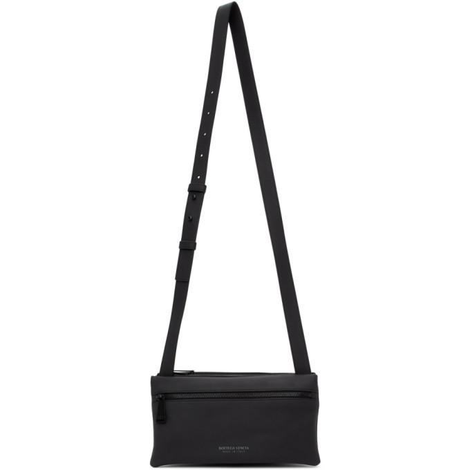 Photo: Bottega Veneta Black Fluid Messenger Bag