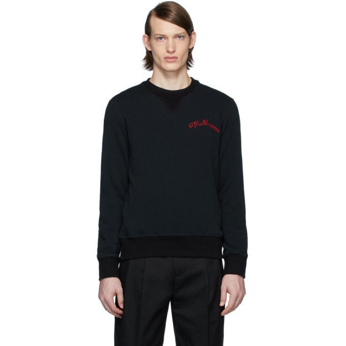 Photo: Alexander McQueen Black Vintage Loopback Sweatshirt