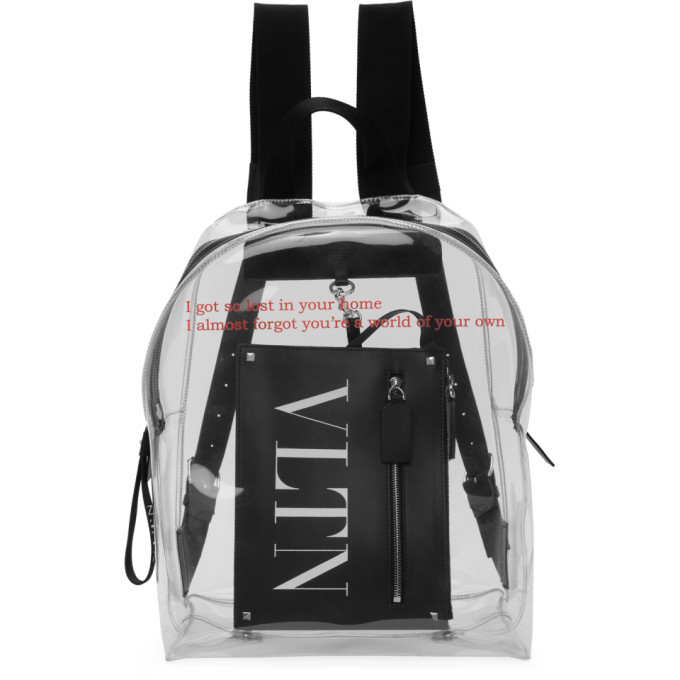Photo: Valentino Transparent Valentino Garavani Pouch Backpack