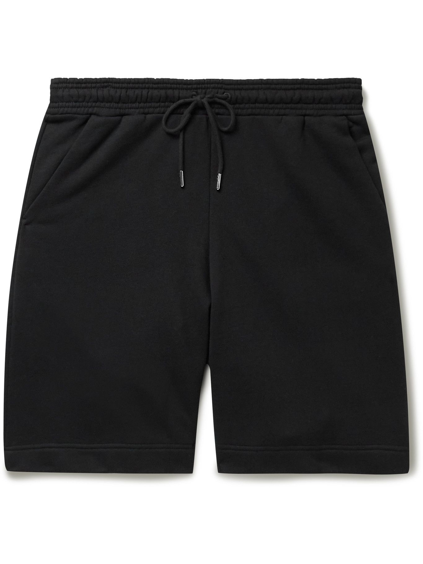 Photo: Ninety Percent - Wide-Leg Organic Cotton-Jersey Drawstring Shorts - Black