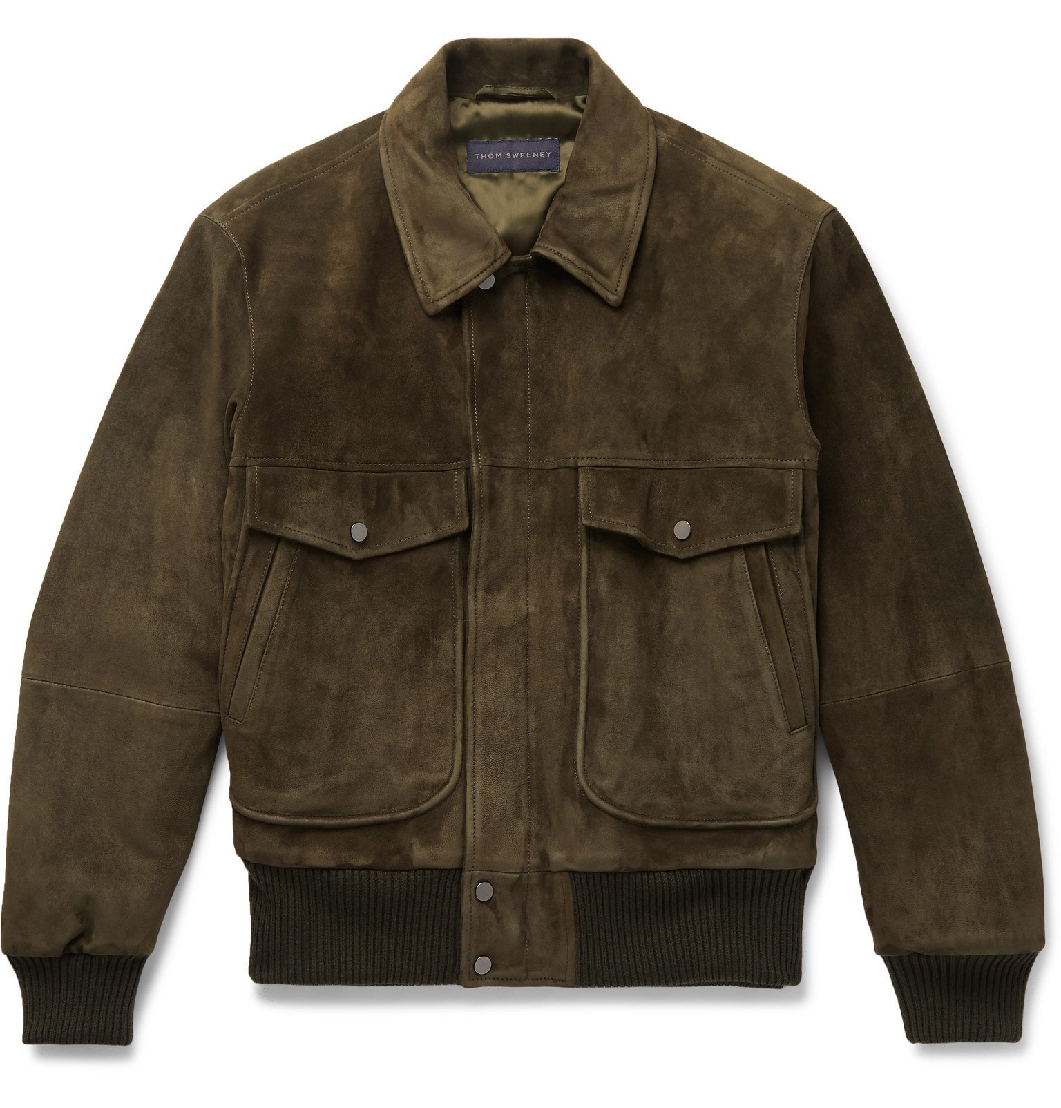 Photo: Thom Sweeney - Suede Bomber Jacket - Green