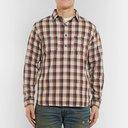 RRL - Checked Cotton Half-Placket Shirt - Men - Red