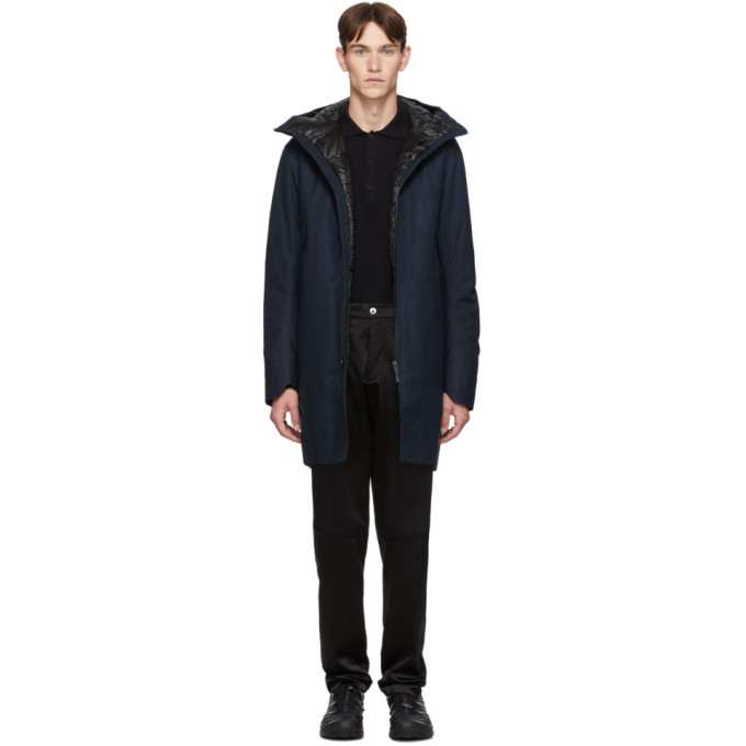 Photo: Veilance Navy Down Monitor Coat
