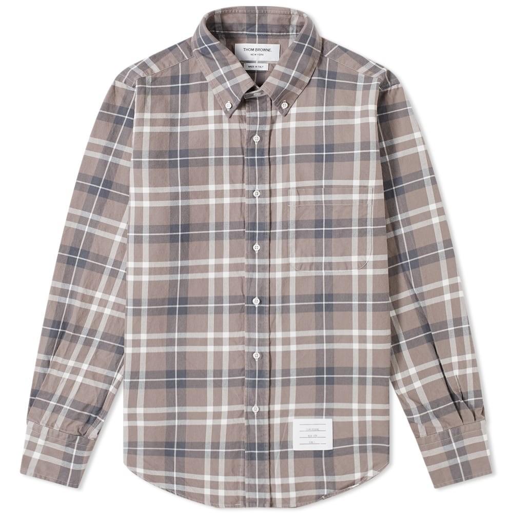 Photo: Thom Browne Tartan Flannel Button Down Shirt