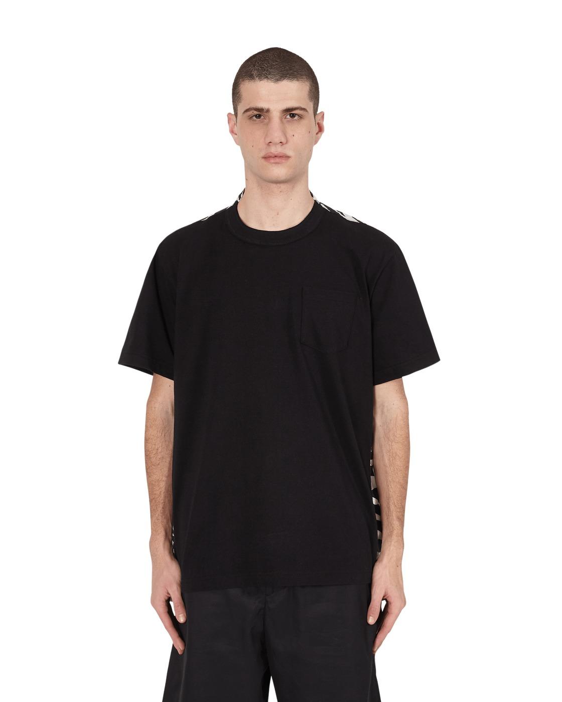 Sacai Zebra Print T Shirt White×Black