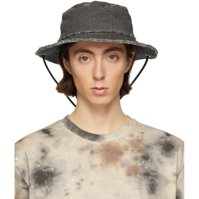 Photo: Diesel Red Tag Black A-Cold-Wall* Edition Denim Bucket Hat