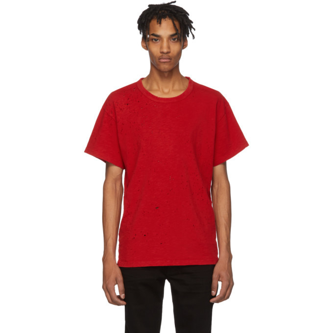 Photo: Amiri Red Shotgun T-Shirt