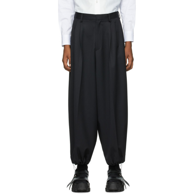 Photo: Fumito Ganryu Black Wool Japanese Bontan Pants
