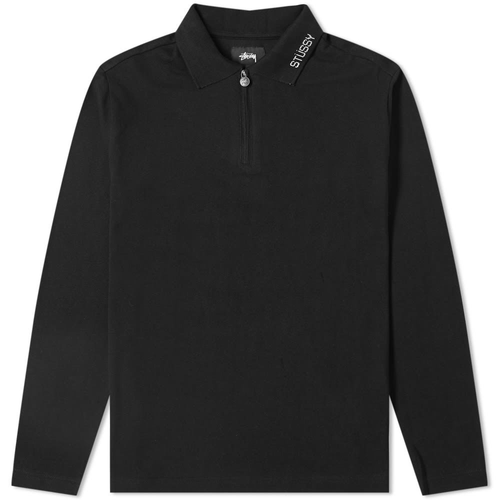 Photo: Stussy Long Sleeve Lion Zip Polo