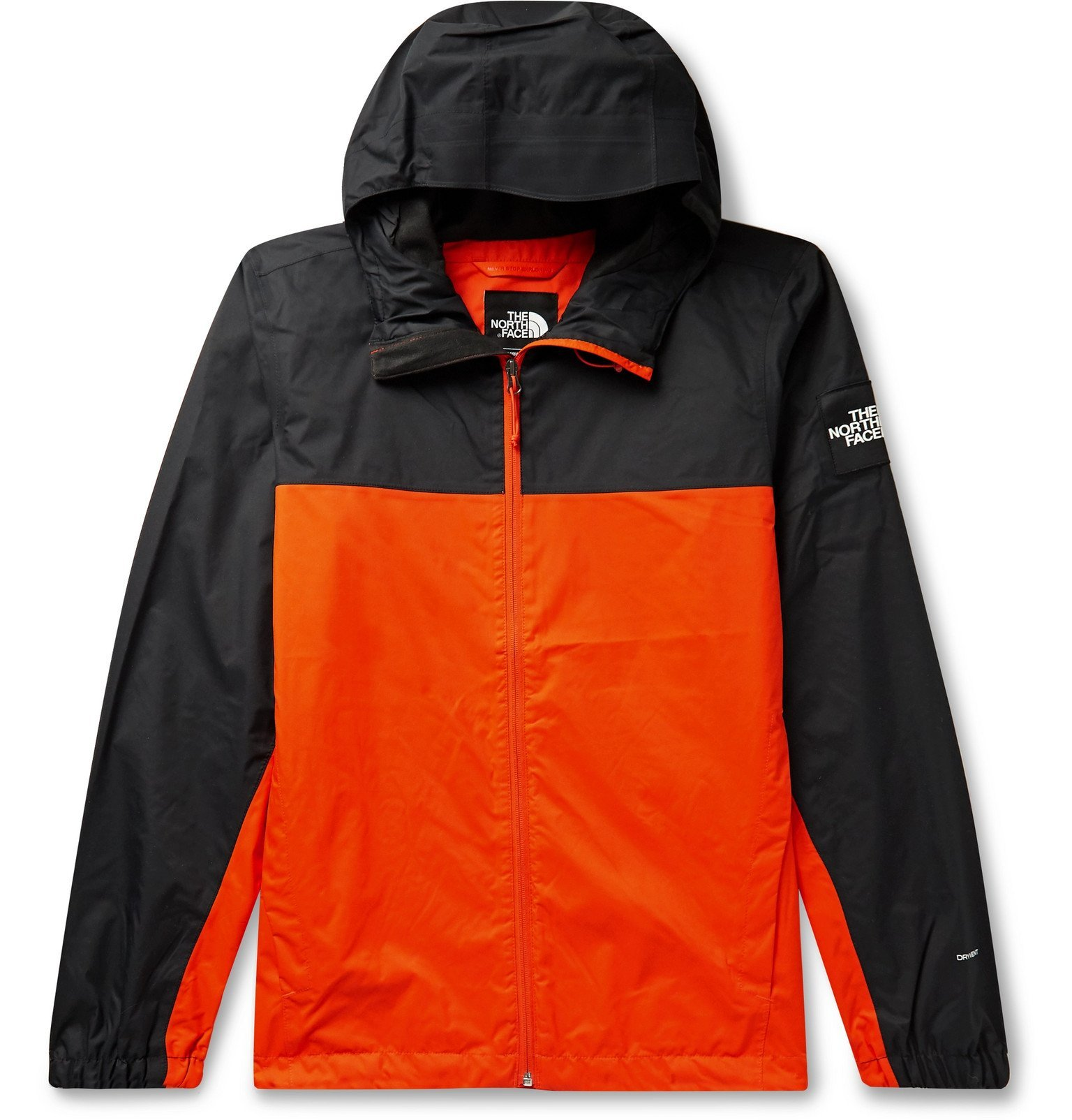 Photo: The North Face - Mountain Q Colour-Block Waterproof DryVent Hooded Jacket - Orange
