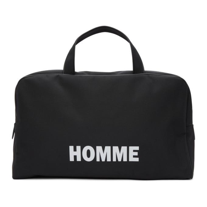 Photo: Comme des Garcons Homme Black Nylon Oxford Duffle Bag