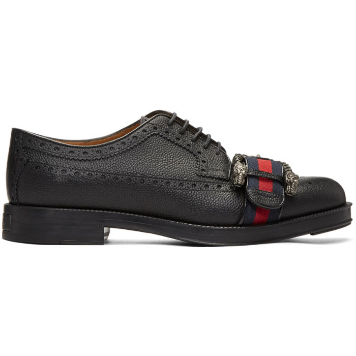 Photo: Gucci Black Beyond Tag Brogues