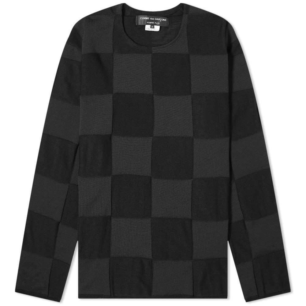 Photo: Comme des Garcons Homme Plus Jacquard Check Crew Knit